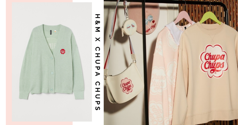 New Retro, Candy-Inspired Chupa Chups X H&M Singapore Collection In Sweet Pastel Colours