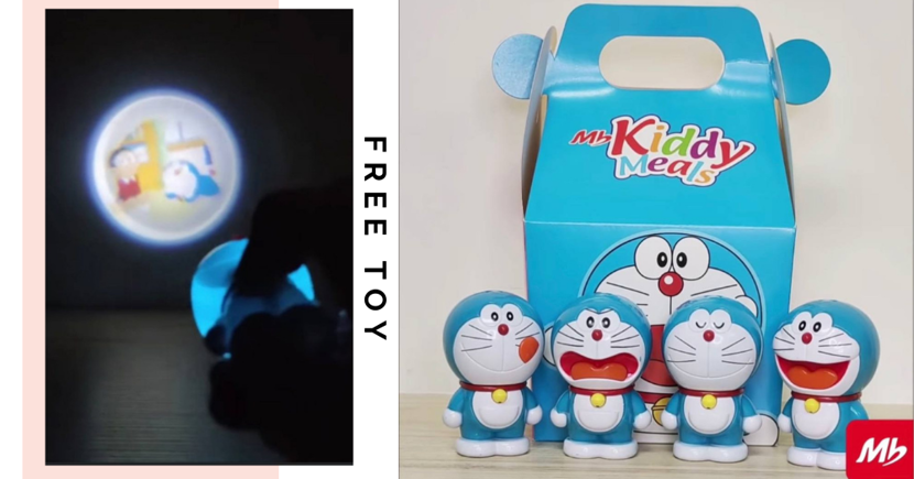 Free Doraemon Projector Toy Comes With Kiddy Meals At Marrybrown Singapore