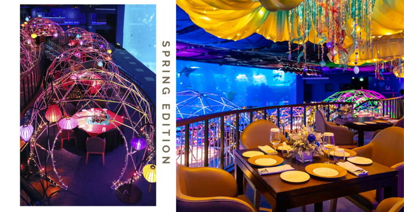 SEA Aquarium Dome Dining: Back With New Spring Theme For CNY & Underwater Dragon Dance
