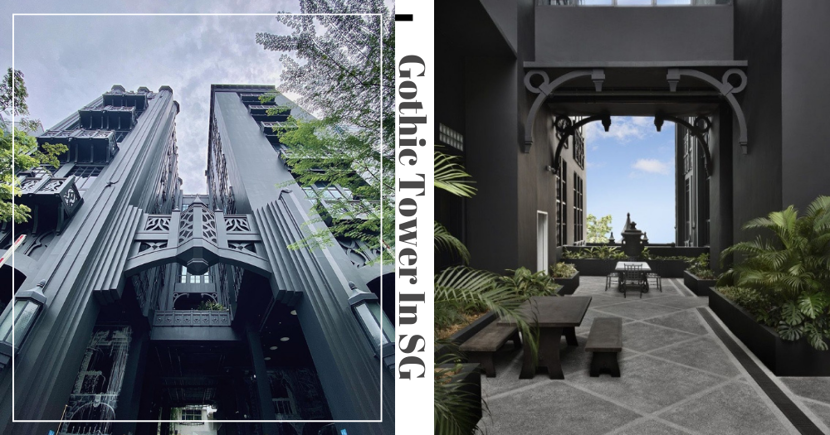 All-Black Gothic Tower In Singapore Is An Office Building With A Victorian-Style Cafe