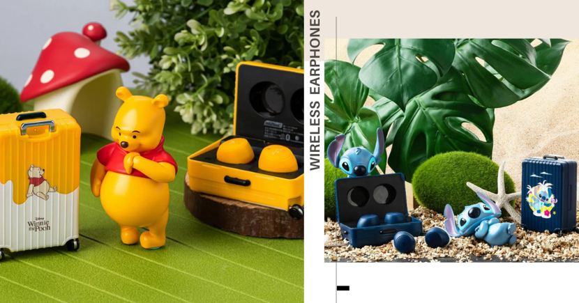 Winnie-The-Pooh & Stitch Wireless Earphones In A Little Suitcase Are Now Available In Singapore