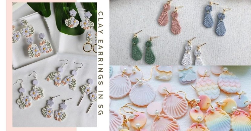 7 Brands In Singapore To Get Pretty Handcrafted Clay Earrings To Match With Your CNY Outfits