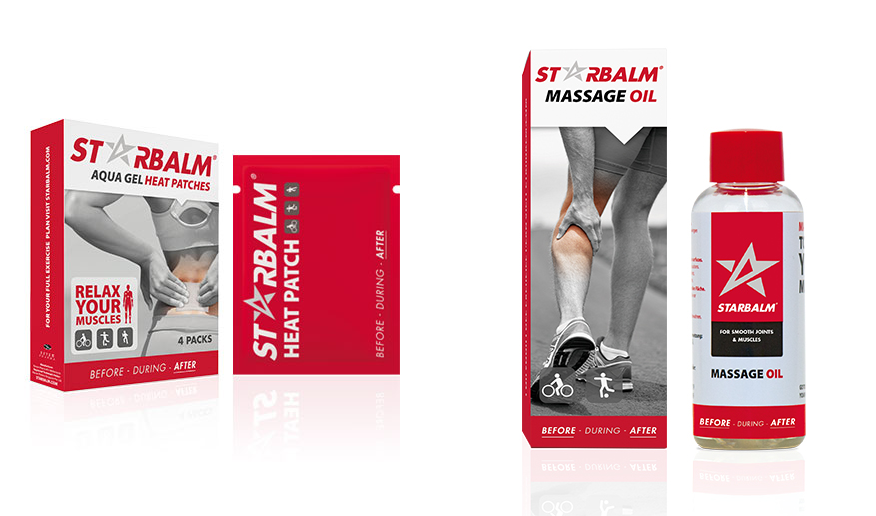 starbalm heat patches and massage oil