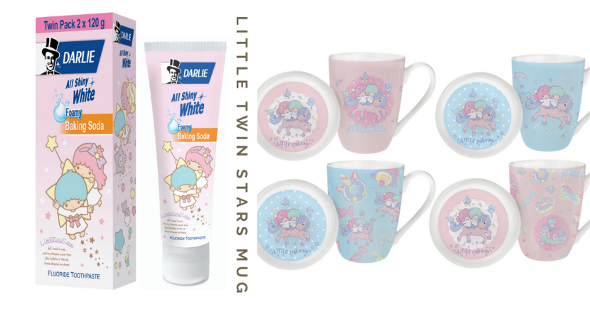 Little Twin Stars X Darlie: FREE Mug Set Worth $19.90 With Purchase & New Sanrio-Themed Toothpaste