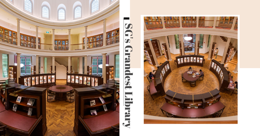 Singapore's Prettiest Library Is A 2-Storey Wonder With Royal-Looking Roman Columns & High Dome Ceiling