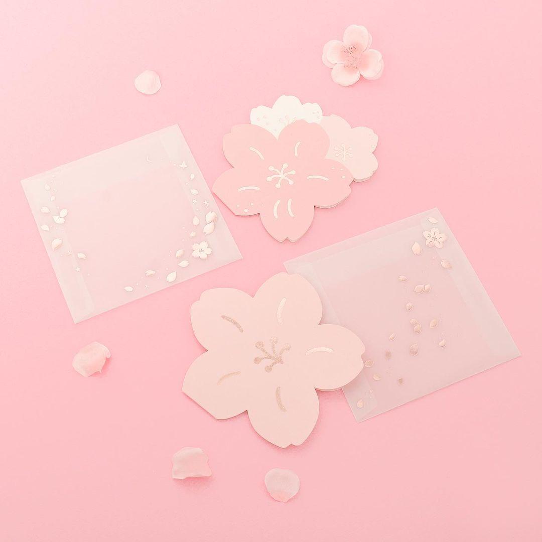 Daiso Korea Dreaming Blossom petal card