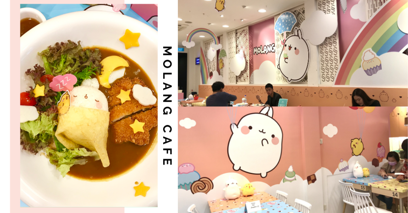New Molang X Kumoya Pop-Up Cafe In Singapore Is A Pastel Wonderland With Cute Food & Drinks
