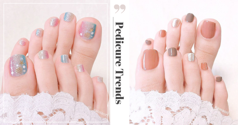 8 Cute & Feminine Pedicure Nail Art Trends To Show Off In Open-Toed Shoes
