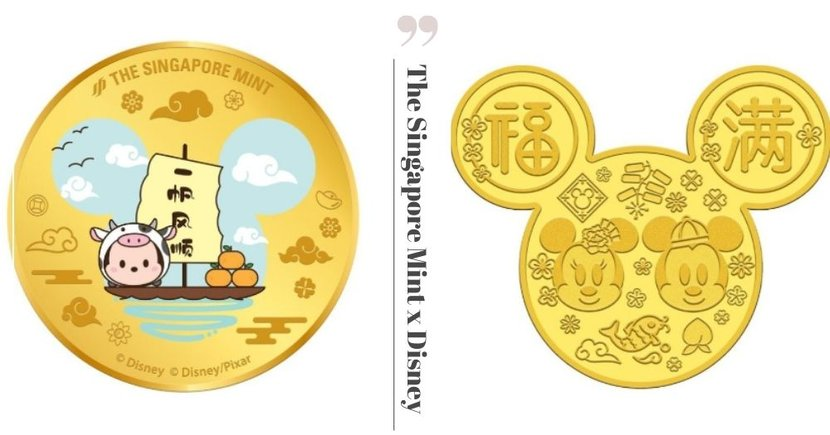 Disney x The Singapore Mint: 24K Gold-Plated Medallions With Cute Designs, Prices Start From Only $20