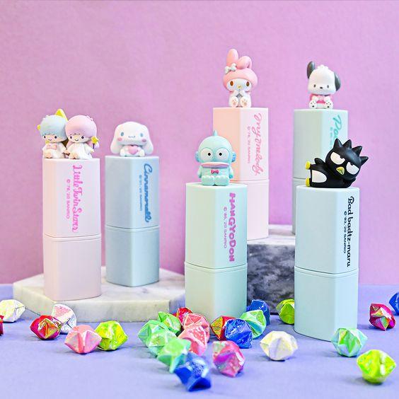 sanrio lip creams with 3d figures