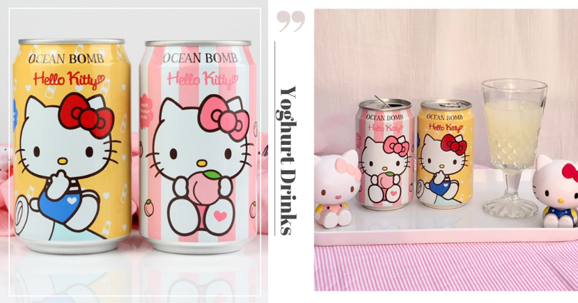 Cute & Affordable Hello Kitty Yoghurt Canned Drinks You Can Shop Online In Singapore