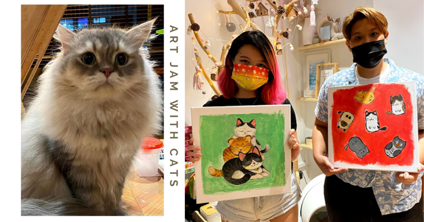 Art Jam While Surrounded By Cats At This New Studio At Yishun, Free Drink & Materials Provided