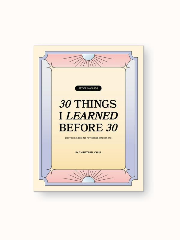kāi 30 things I learned by 30 cards