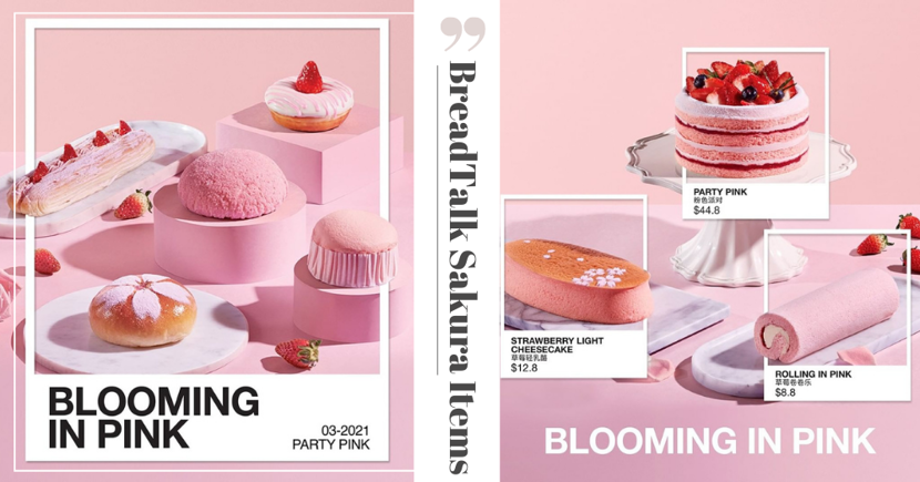 BreadTalk Has New Limited Edition Pink Pastries In Sakura, Strawberry, & Rose Flavours In Singapore