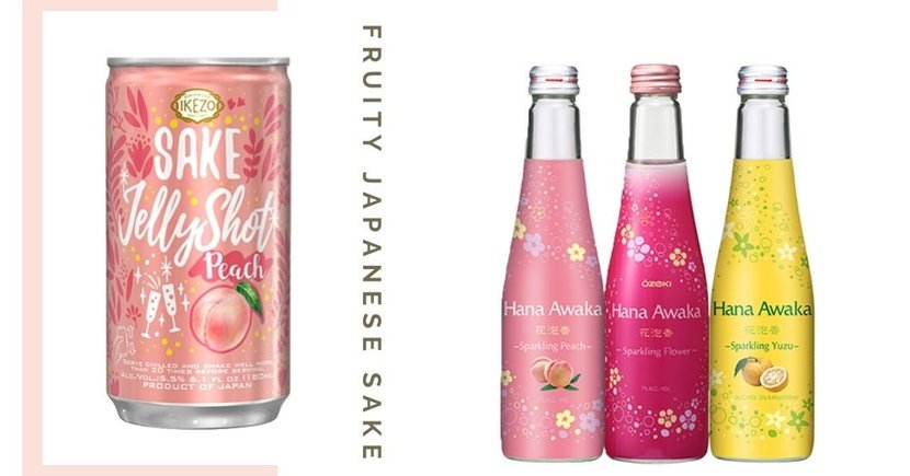 Japanese Sparkling Sake In Fruity & Sweet Flavours Now Available In Singapore From Only $5