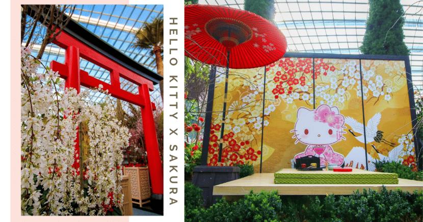 First Look: Hello Kitty-Themed Sakura Matsuri 2021 At Gardens By The Bay Singapore
