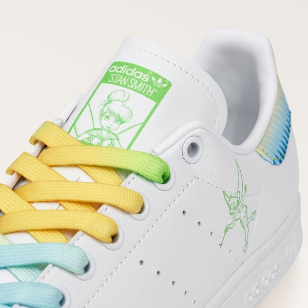 adidas Tinkerbell sneakers close up on tongue