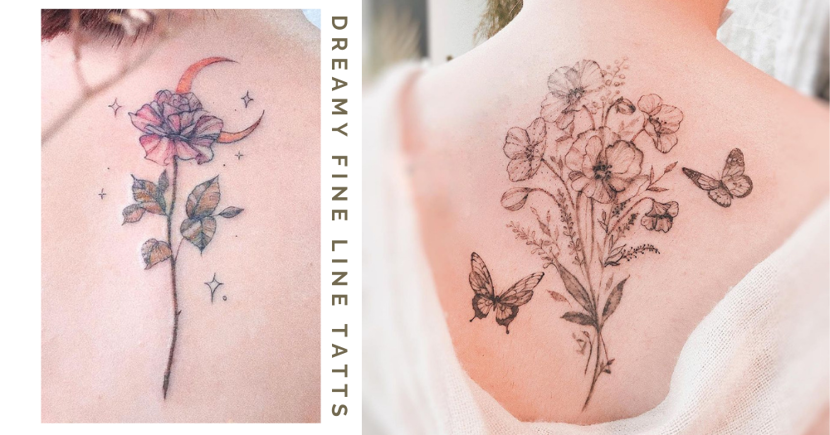 This Tattoo Artist In Singapore Specialises In Dreamy Fine Line Designs In Pastel Colours
