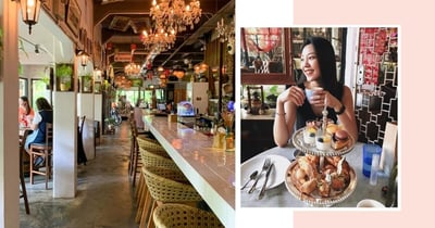 Cafe At Changi With Gorgeous Vintage Decor Has An Affordable High Tea Set At Only $19/Pax