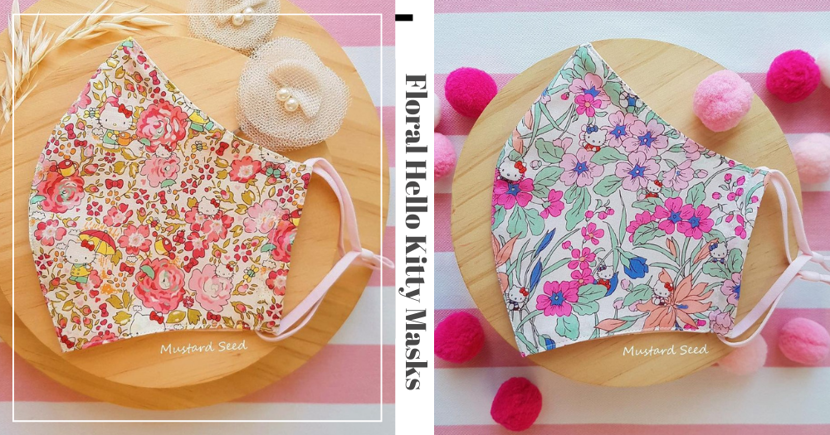 Local Store Sells Beautiful Reusable Face Masks For Adults & Kids With Floral & Sanrio Designs