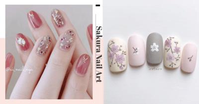 9Sakura Nail Art Designs For Singaporean Ladies Who Are Missing Cherry Blossom Season In Japan