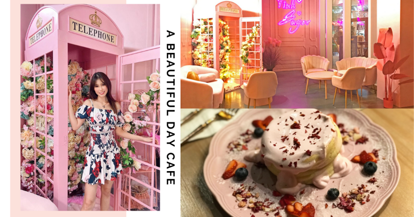 New IG-Worthy Cafe In Singapore Has Pink Floral & Bali-Style Decor, Serves Soufflé Pancakes & Mala