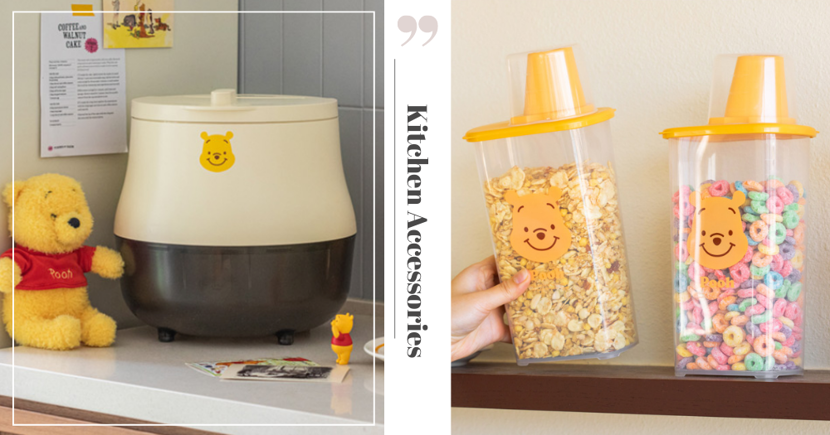 New 10x10 Winnie-The-Pooh Vacuum Rice Bucket & Food Containers Are Available To Shop Online In Singapore