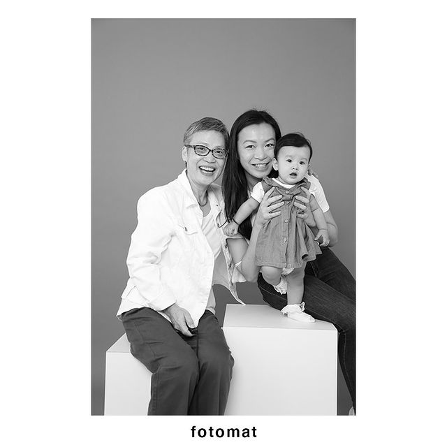 Photoshoot with infant at Fotomat Studios