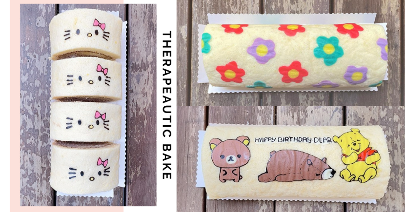 Singaporean Baker Sells Adorable Customised Hand-Drawn Roll Cakes