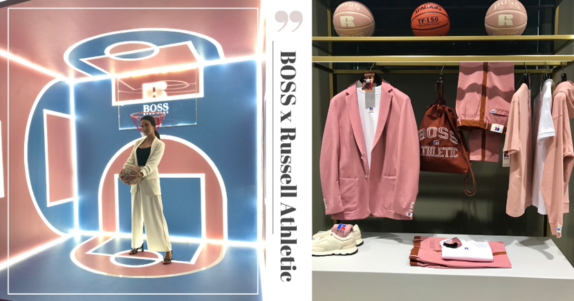 New BOSS x Russell Athletic Pink Unisex Collection In Singapore With Photo Spots