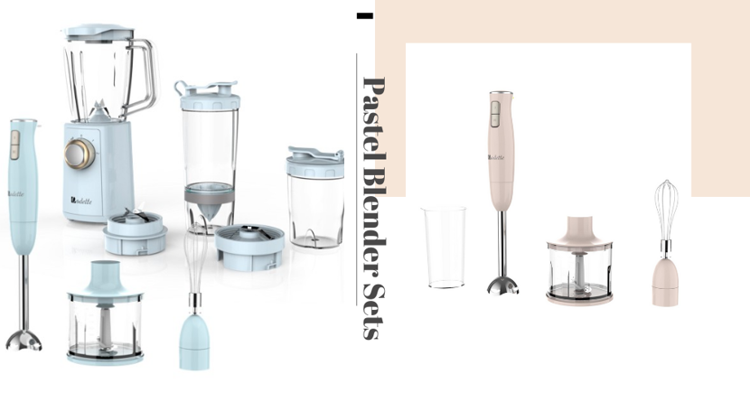 These Pastel Pink & Blue Blender Sets From European Brand Odette Are Now Going At Discounted Prices