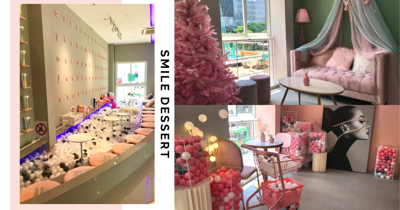 New 24-Hour Dessert Cafe In Bugis Has Pink Decor, Giant Ball Pit & More IG-Worthy Spots Across 3 Storeys