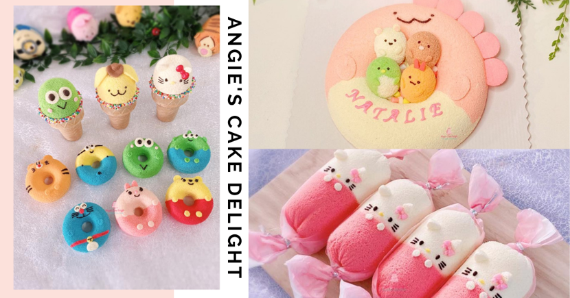 Beautiful Customisable Character Chiffon Cakes By Local Baker Avail. For Delivery