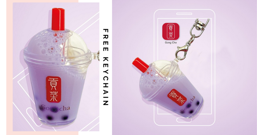 Free Gong Cha Taro Bubble Tea Keychain In Singapore With Min. Purchase