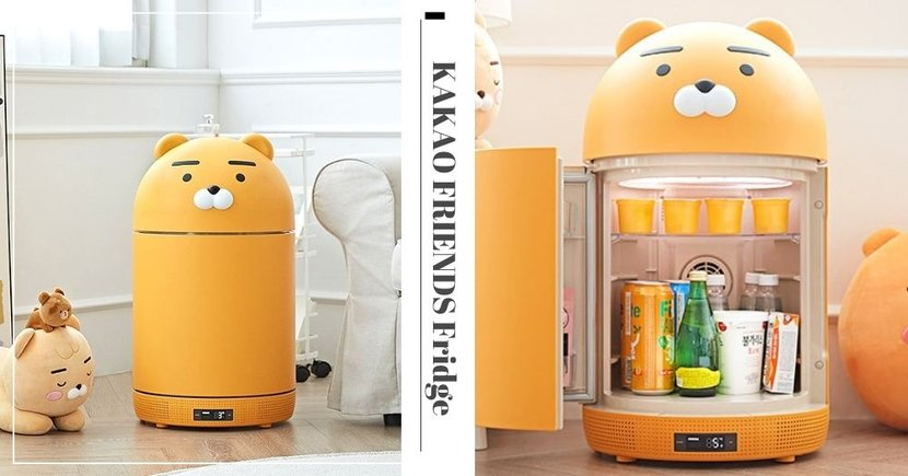 Korea Has New KAKAO FRIENDS Fridge That Plays Music & Sanitises Gadgets