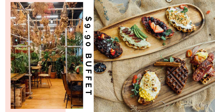 New $9.90 Croffle Buffet In Singapore With Avocado, Bacon, Cream Cheese & More Toppings