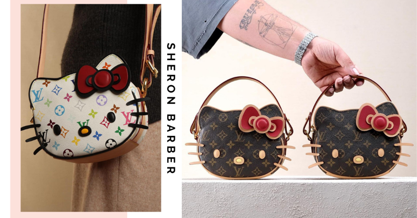 Hello Kitty Louis Vuitton Bags Upcycled By American Designer Sheron Barber