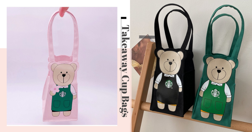 Starbucks Taiwan Has A Cute Bearista Cup Bag, Get It In Singapore For Your Phase 2 Takeaways