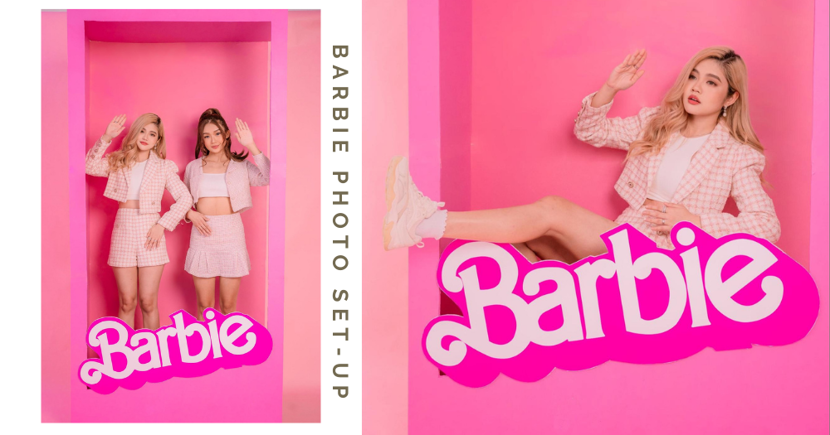 Photo Studio In Singapore Has Pink Barbie-Themed Backdrop That Looks Like A Life-Sized Doll Box