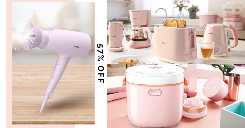 Up To 57% Off Philips Pink Appliances In Singapore Including Rice Cookers & Toasters