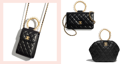 New Chanel Metiers d'Art Dainty Mini Bags With Pearls In Singapore