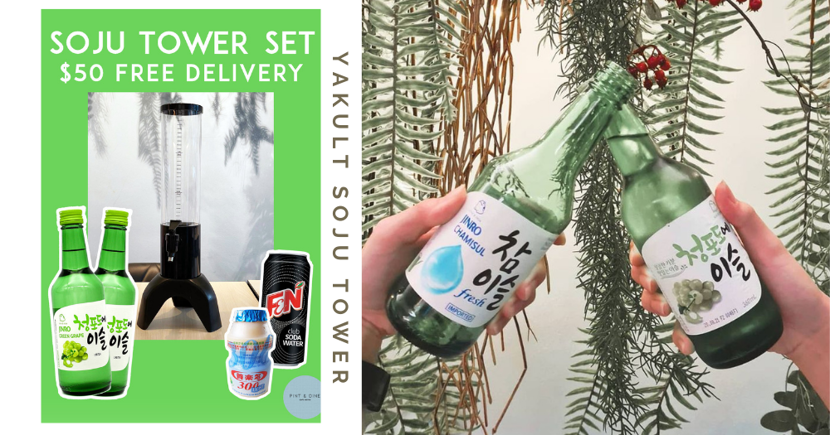 New Korean Bistro In Singapore Has 1.5L Yakult Soju Towers At Just $50 With Free Delivery