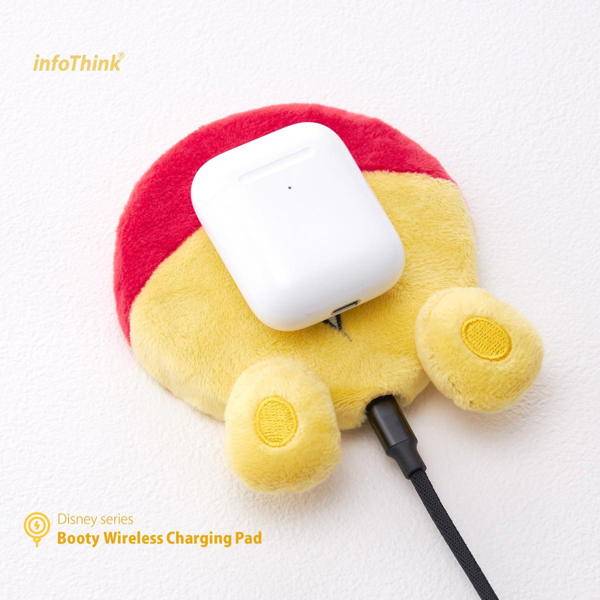 infothink booty wireless airpods charging pad winnie pooh