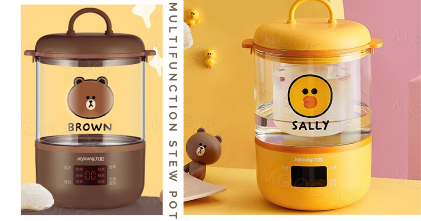LINE FRIENDS Multifunction Stew Pots Can Make Meals, Desserts, Homebrewed Tea & Keep Them Warm For Hours