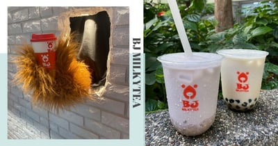 """New Bubble Tea Store At Tanjong Pagar Has """"Bears"""" Serving Customers, Get 50% Off 2nd Drink Till 31 Aug"""