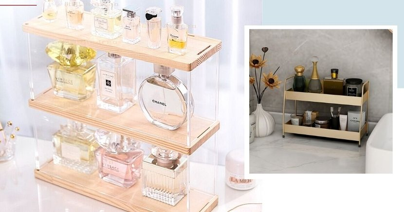 8 Vanity Table Organisers & Displays From $7.90 In Singapore For Your Skincare, Perfumes & Cosmetics