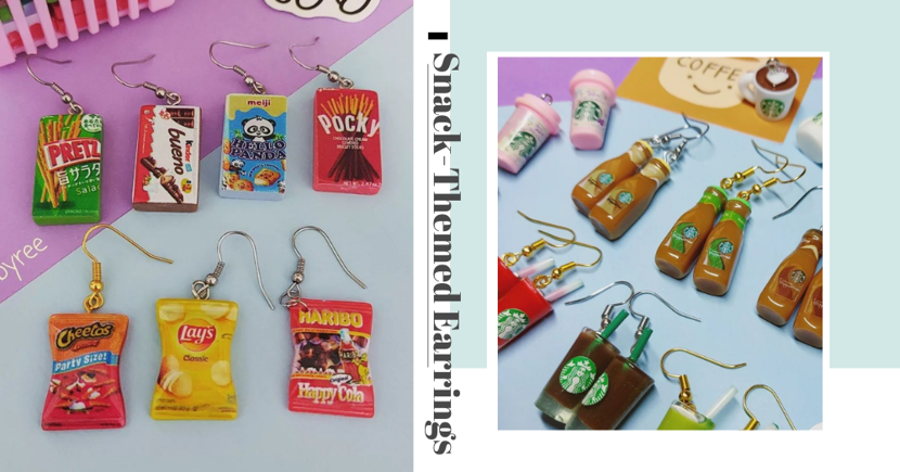 SG Accessory Store Has Realistic-Looking Foodie Earrings Themed After Starbucks, Haribo, Pocky & More