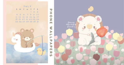 Singapore Artist Has Adorable Animal-Themed Phone Wallpapers In Soothing Tones For Free Download