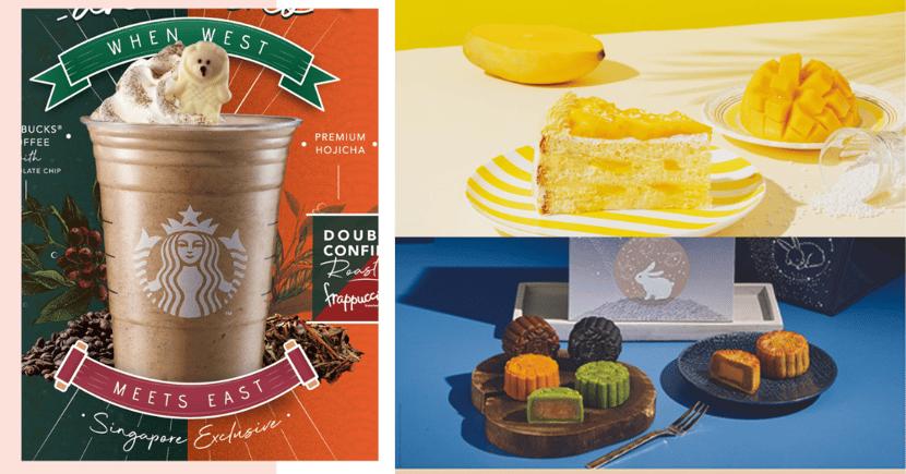 New Starbucks SHIOK-AH-CCINO, Smores & Neapolitan Frappuccinos, Food, Mooncakes, Merchandise In Singapore