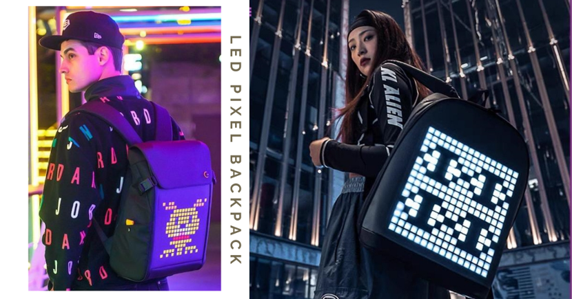 Special Backpack With LED Screen Lets You Play Games & Customise Pixel Art Through Your Phone
